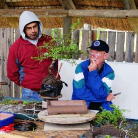 Corne and Bonsai Guru Rudi Adam.