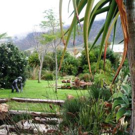 RoseQuartz stairs to Organic Pond