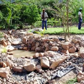 Construction of Water feature and Pond.