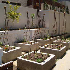 Contemporaty Obelix design for vegetable garden for client.